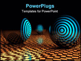 PowerPoint Template - Abstract target Concept on checkered floor with spheres