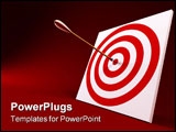 PowerPoint Template - 3d rendering of the arrow and target