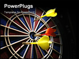 PowerPoint Template - dart board in the bar with darts
