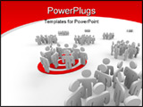 PowerPoint Template - One group is targeted for marketing outreach with a bulls-eye under the figures