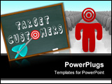 PowerPoint Template - The words Target Customers written on a chalkboard