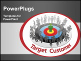 PowerPoint Template - Targeted Marketing to find and choose the best customer in a group of people