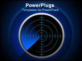 PowerPoint Template - Bluetooth and technology radar. Radar communication tecnology.