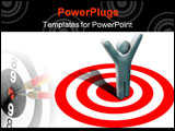 PowerPoint Template - Concept at winning in business on target
