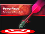 PowerPoint Template - Dart and dartbaord exploding as it is hit