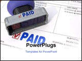PowerPoint Template - paying bills