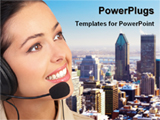 PowerPoint Template - operator of a call center