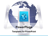 PowerPoint Template - mobile communication around the world
