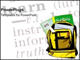 PowerPoint Template - Backpack ready for school.
