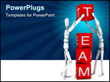 PowerPoint Template - Teamwork: team working together.