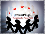 PowerPoint Template - paper people. people with heart. pasionate people