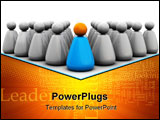 PowerPoint Template - 3d illustration of business team with leader symbol