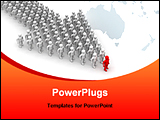 PowerPoint Template - a man lead large team