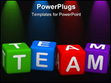 PowerPoint Template - team (buzzword colorful cubes 3D hires series)