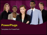 PowerPoint Template - a diverse and multi-cultural business team