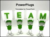 PowerPoint Template - Team players working together side by side