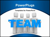 PowerPoint Template - Team. Image contain clipping path