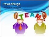 PowerPoint Template - business team working together and sharing ideas - icon people series