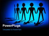 PowerPoint Template - paper chain men concept is teamwork