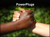 PowerPoint Template -  black hand of an African American woman and a white hand of an caucasian woman holding each other