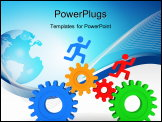 PowerPoint Template - Image of Gears concept in 3D style