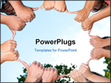 PowerPoint Template - a diverse young adults giving thumbs up