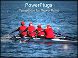 PowerPoint Template - Rowers in quad race