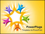 PowerPoint Template - Teamwork Star isolated on a white background image