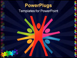 PowerPoint Template - Abstract Colorful Vector Teamwork Background. Business Series.