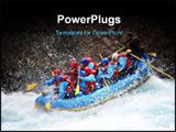 PowerPoint Template - chilko river british columbia/river rafting