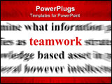 PowerPoint Template - a conceptual image with the focus on the word teamwork