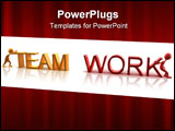 PowerPoint Template - Two characters working together. A concept representing teamwork.