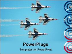 PowerPoint Template - thunderbird f-16