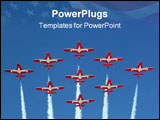 PowerPoint Template - canadian snowbirds flying in diamond formation