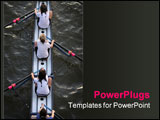 PowerPoint Template - birds eye view of womens rowing team