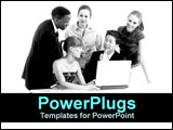 PowerPoint Template - team of business people