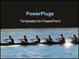 PowerPoint Template - Speeding rowing boat with motion blur to accent speed.