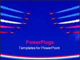 PowerPoint Template - The red arrows on display in cornwall 2006.