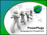 PowerPoint Template - A team works together to pull the Earth