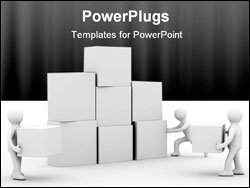 PowerPoint Template - Conceptual image of teamwork. Isolated 3D image