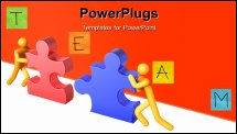 PowerPoint Template - 3d rendered image on white background: Teamwork
