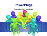 PowerPoint Template - Computer Generated 3D Image - Teamwork .