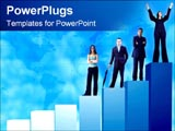 PowerPoint Template - graph of success with the business group