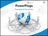 PowerPoint Template - Conceptual image of teamwork. 3D image. Illustrations