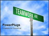 PowerPoint Template - A street sign with a Teamwork theme
