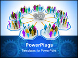 PowerPoint Template - a 3d concept of people purchasing gift for christmas