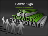 PowerPoint Template - Teamwork Unity and Collaboration in 3d Text