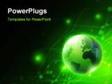 PowerPoint Template - Hi-tech global background