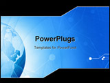 PowerPoint Template - digital world on a soft blue background