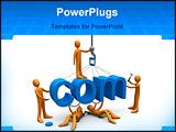 PowerPoint Template - Metaphor of a dot com website being constructed